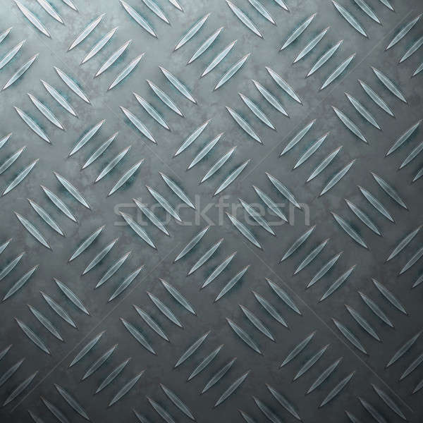 Blue Diamond Plate Stock photo © ArenaCreative