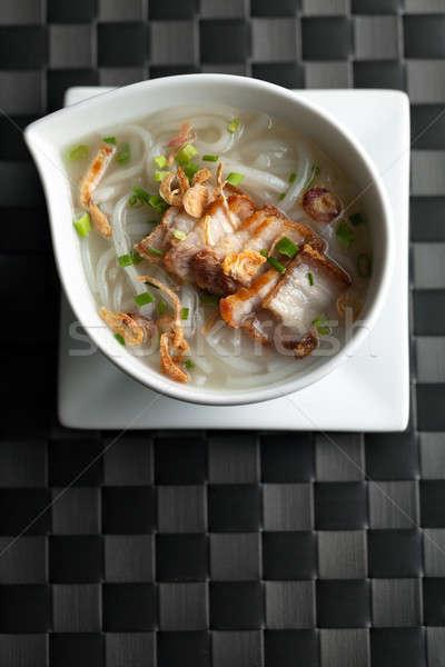 タイ ヌードル スープ ぱりぱり 豚肉 ストックフォト © arenacreative