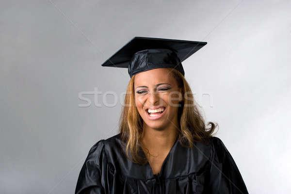 Happy Graduate Laughing Stock photo © ArenaCreative