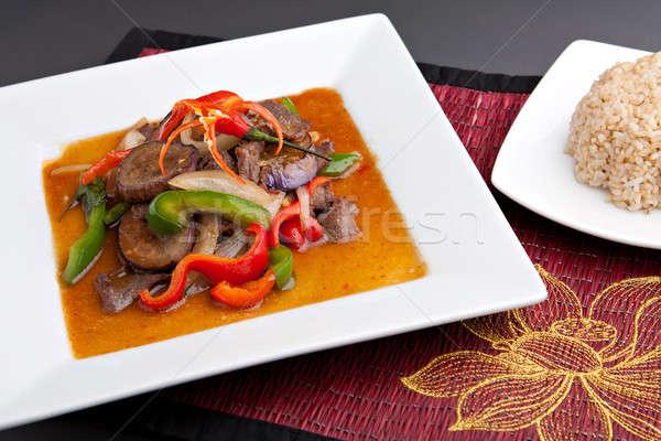 Spicy Thai Eggplant Stir Fry Stock photo © ArenaCreative