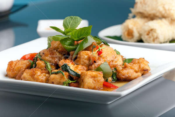 タイ料理 前菜 新鮮な フライド 豆腐 ストックフォト © ArenaCreative