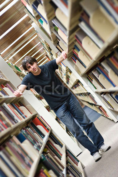 Young Man at the Library Stock photo © ArenaCreative
