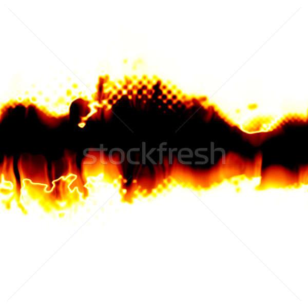 Ardente strappato layout centro sezione copia spazio Foto d'archivio © ArenaCreative
