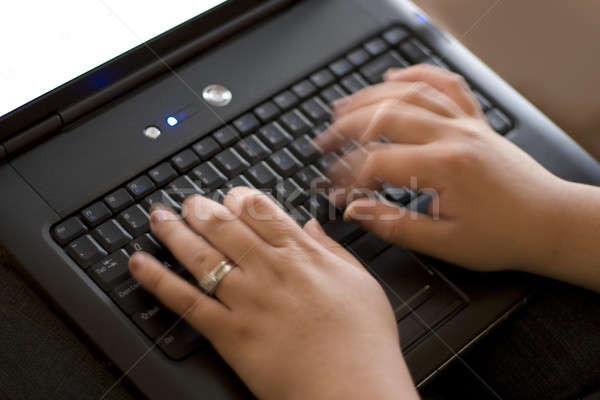 Fast Typist Stock photo © ArenaCreative