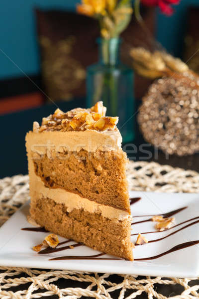Toffee Almond Cake Stock photo © arenacreative