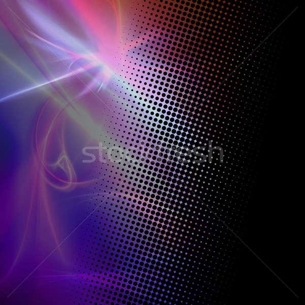 Fractal Halftone Dots Texture Stock photo © ArenaCreative