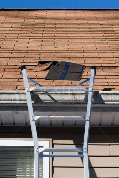 Blown Out Roof Shingles Repair Stock photo © ArenaCreative