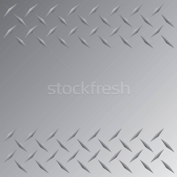 Diamond Plate Border Stock photo © ArenaCreative