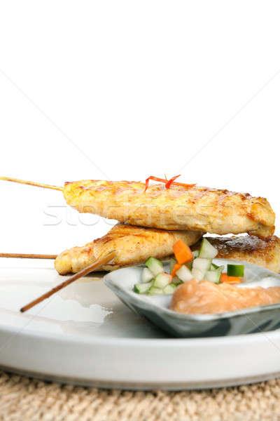 Сток-фото: куриные · тайский · закуска · азиатских · стиль · арахис