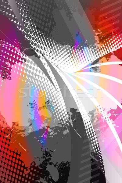 Verf splatter lay-out abstract textuur exemplaar ruimte Stockfoto © ArenaCreative