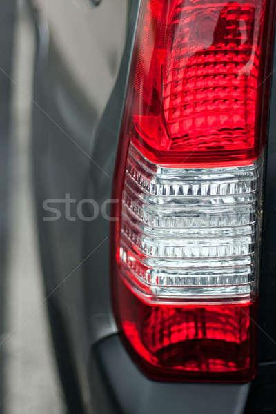 Samochodu ogon świetle szczegół czerwony Zdjęcia stock © ArenaCreative