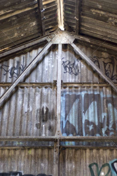 Graffiti Covered Interior Stock photo © ArenaCreative