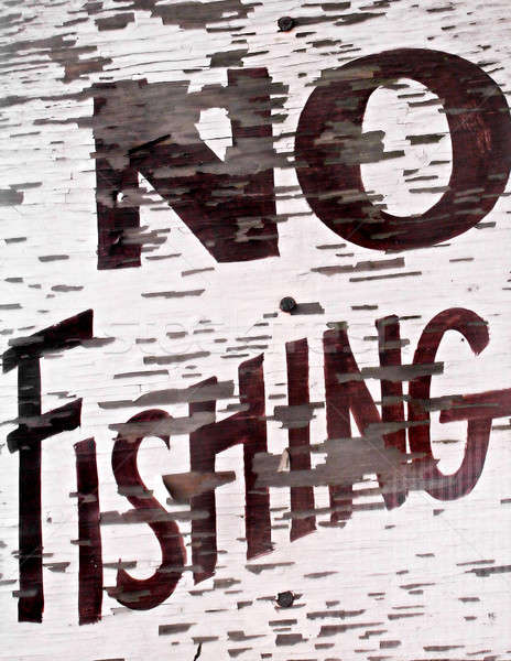 No Fishing Sign Stock photo © ArenaCreative