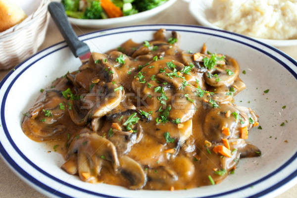 Chicken Marsala Dish Stock photo © ArenaCreative