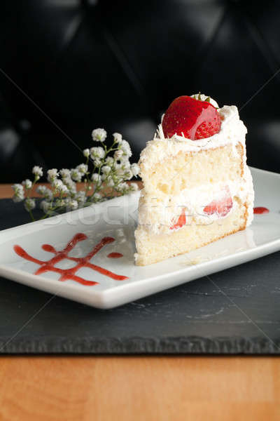 Strawberry Shortcake Slice Stock photo © arenacreative