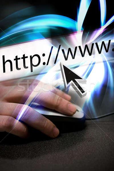 Surf internet montage mouse arrow punta Foto d'archivio © ArenaCreative
