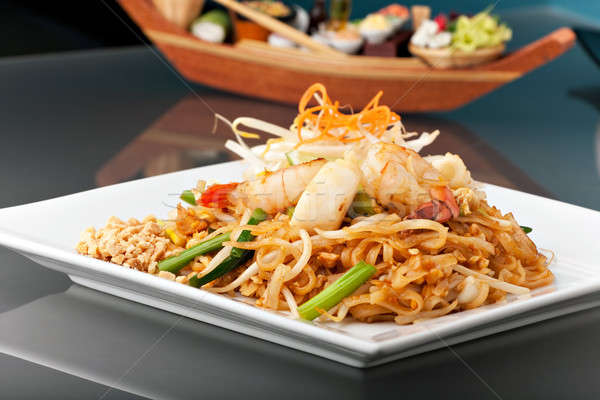 Seafood Pad Thai with Stir Fried Rice Noodles Stock photo © ArenaCreative