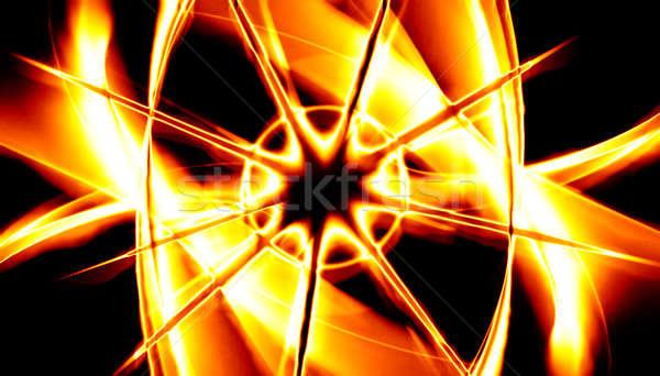 Fiery Fractal Design Stock photo © ArenaCreative