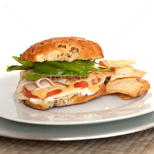 Deli Style Turkey Sandwich Stock photo © ArenaCreative