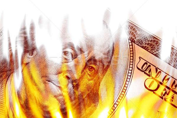 Money Ablaze in Flames Stock photo © ArenaCreative