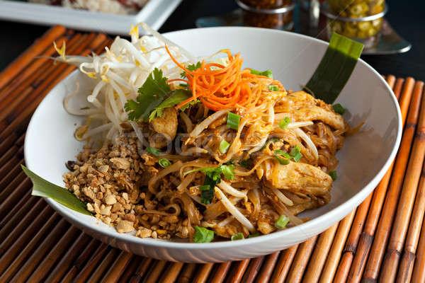 Сток-фото: куриные · тайский · блюдо · жареный · риса