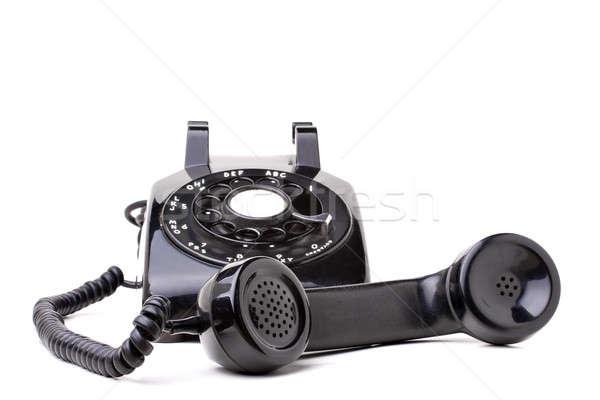 Stockfoto: Oude · vintage · telefoon · zwarte · stijl · af