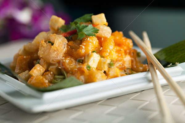 Croccante thai gamberetti piatto mela Foto d'archivio © arenacreative