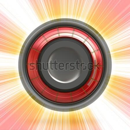 Modern düğme ikon bakıyor 3D konuşmacı Stok fotoğraf © ArenaCreative