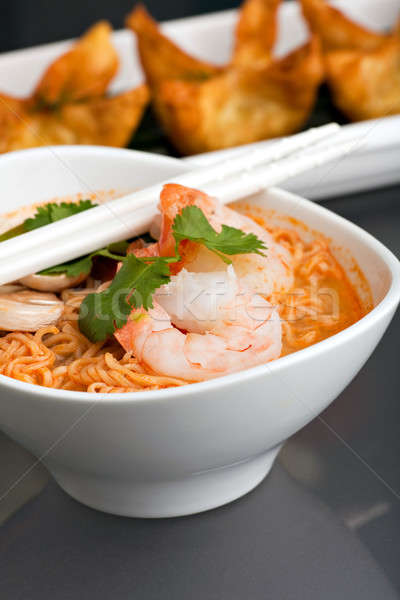 Thai Noodle Soup with Prawns Stock photo © ArenaCreative