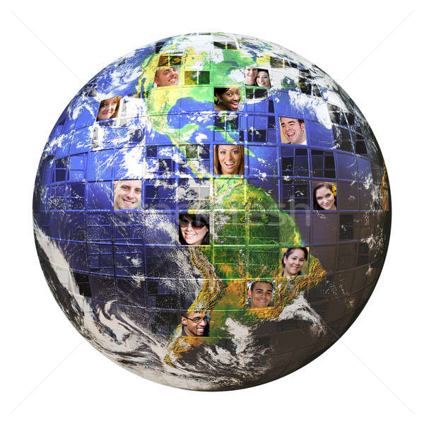 Global Network of People  Stock photo © ArenaCreative