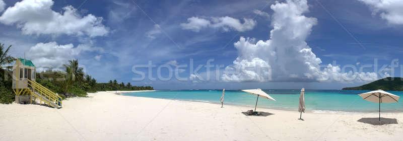 Ada flamenko plaj geniş açı panoramik görmek Stok fotoğraf © ArenaCreative