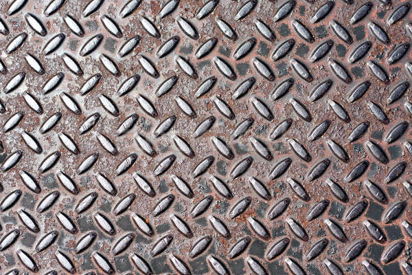 Real Steel Diamond Plate Texture Stock photo © ArenaCreative