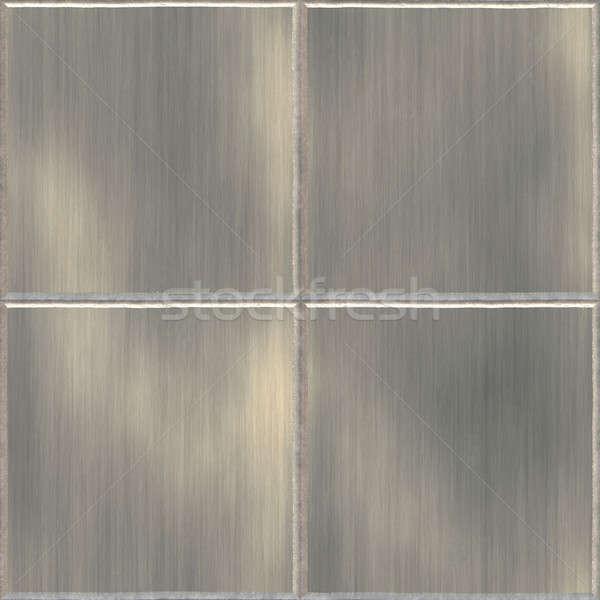 Ze stali nierdzewnej płytek aluminium obraz wzór ściany Zdjęcia stock © ArenaCreative
