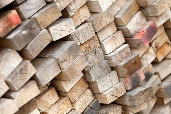 Stack of Old Lumber Stock photo © ArenaCreative