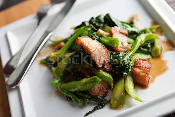 Thai style pork dish  Stock photo © arenacreative