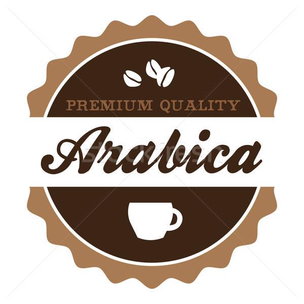 Vintage Arabica Coffee Label Stock photo © arenacreative