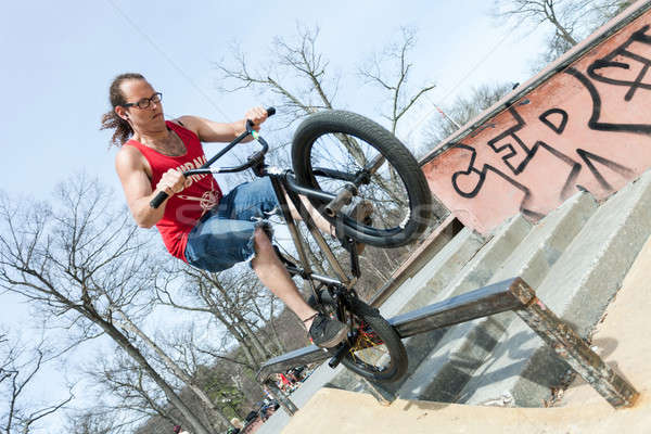 BMX Rider Doing Tricks Stock photo © arenacreative