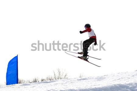 Сток-фото: лыжных · лыжник · воздуха · Перейти · небе