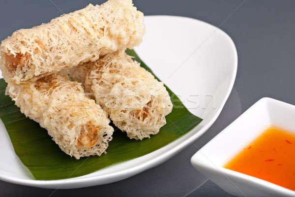 Chrupki tajska jaj naczyń Zdjęcia stock © ArenaCreative