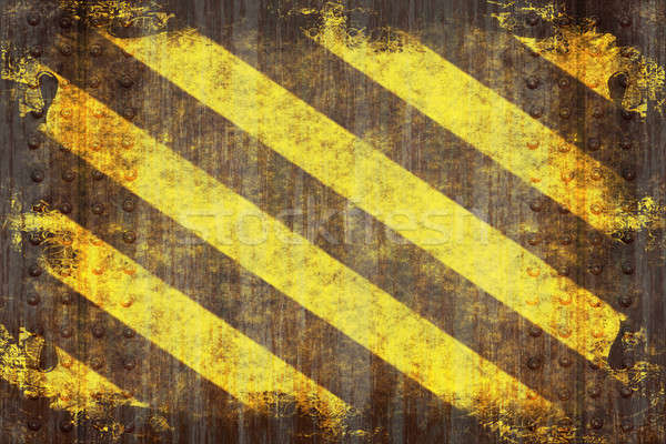 Grunge Hazard Stripes Stock photo © ArenaCreative