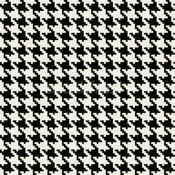 Как называется чёрно-белый узор на ткани