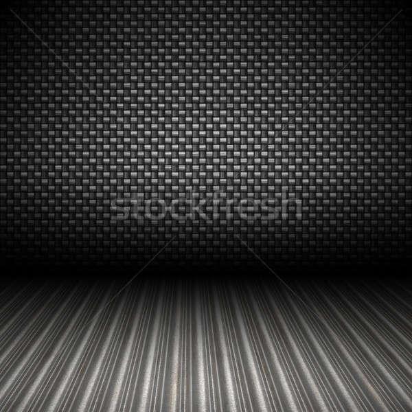 Koolstofvezel metaal achtergrond realistisch 3D Stockfoto © ArenaCreative