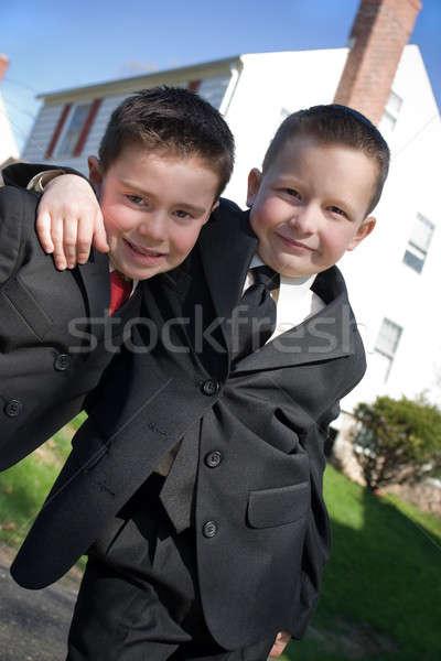 Stock fotó: Legjobb · haverok · kettő · boldog · fiatal · fiúk