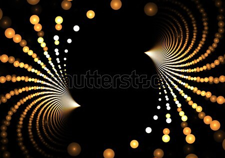 Golden Fractal Dots Stock photo © ArenaCreative