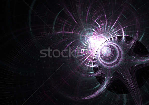 Purple Fractal Layout Stock photo © ArenaCreative