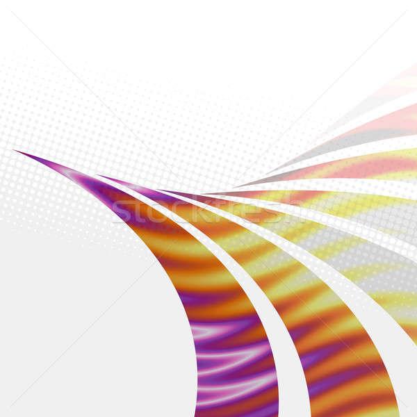 Funky Swoosh Layout Stock photo © ArenaCreative