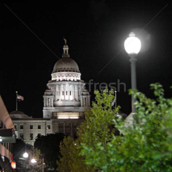 Rhode Island Bina gece zaman görmek ofis Stok fotoğraf © ArenaCreative