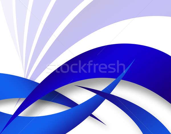 Stock fotó: Kék · absztrakt · elrendezés · modern · vonalak · textúra