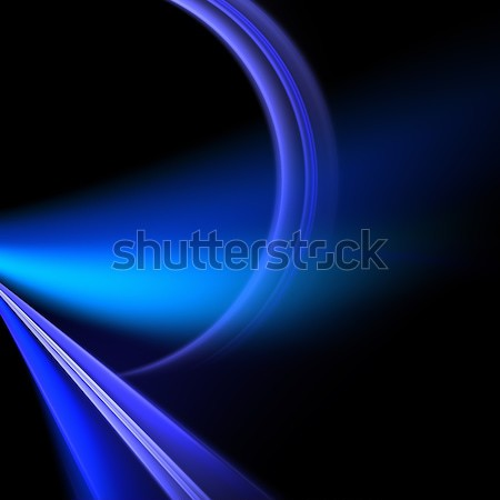 青 フラクタル スパイラル 抽象的な デザイン ストックフォト © arenacreative