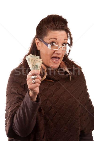 Mulher dinheiro mão Foto stock © ArenaCreative